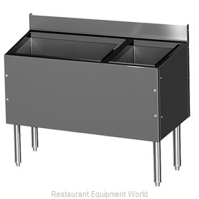 Glastender C-CBA-48R-CP10-ED Underbar Ice Bin/Cocktail Station, Bottle Well Bin