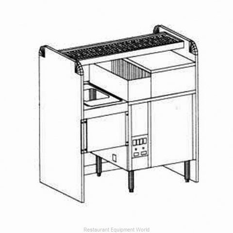 Glastender CS-42X26G-CW-S Underbar Ice Bin/Cocktail Station, Pass-Thru, Glasswas