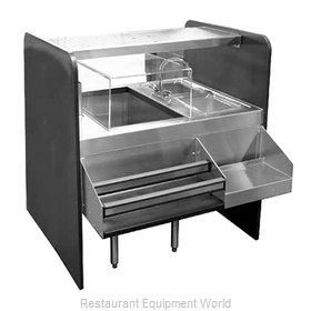 Glastender CS-42X32-CCW Underbar Ice Bin/Cocktail Station, Pass-Thru Combo