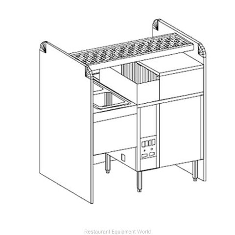 Glastender CS-42X32G-CW-S Underbar Pass-Thru Assembly w Glasswasher
