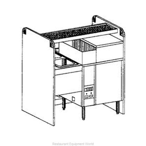Glastender CS-48X32G-CCW-S Underbar Pass-Thru Assembly w Glasswasher