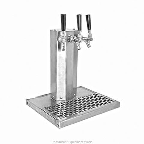 Glastender CT-3-SS-LD Draft Beer / Wine Dispensing Tower (Magnified)