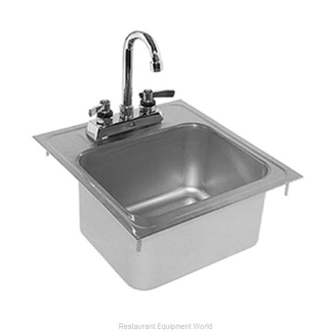 Glastender DI-HS14-LF Sink, Drop-In (Magnified)