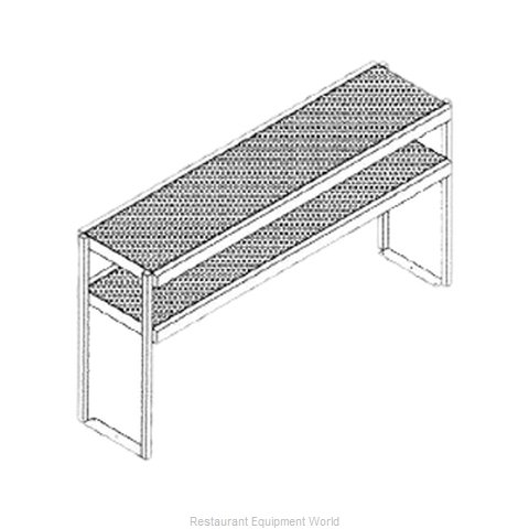 Glastender DOS/SS-42 Overshelf, Table-Mounted