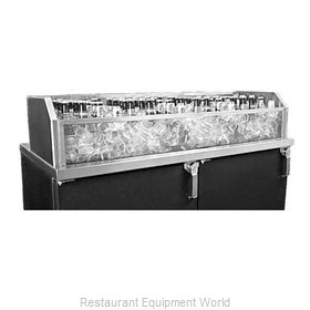 Glastender GDU-12X96 Ice Display, Bar