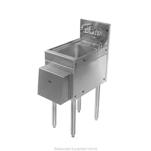 Glastender HSB-12-D Underbar Hand Sink Unit (Magnified)