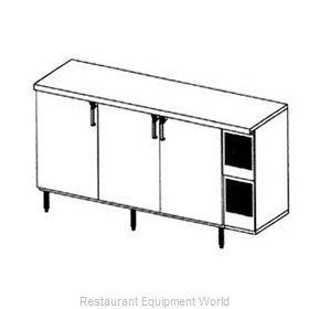Glastender LP84 Backbar Cabinet Refrigerated