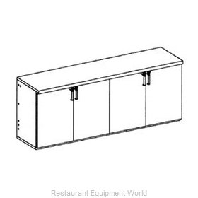 Glastender LP96 Backbar Cabinet Refrigerated