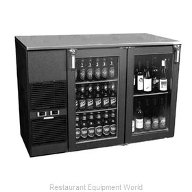 Glastender ND52BW Backbar Cabinet Refrigerated