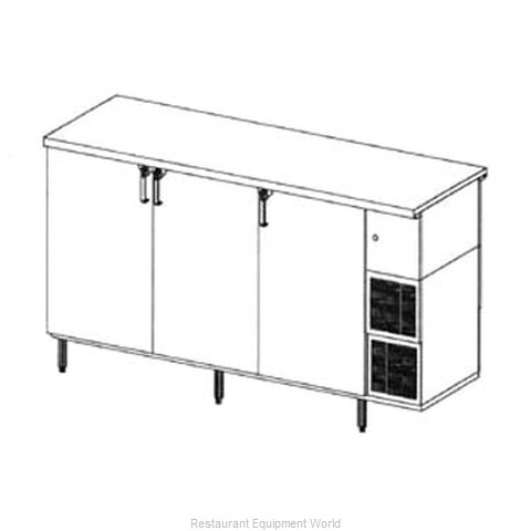 Glastender PT84-H Backbar Cabinet Refrigerated