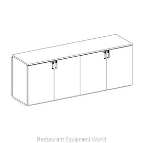 Glastender PT96-N Backbar Cabinet Refrigerated