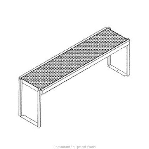 Glastender SOS/SS-48 Overshelf Table Mounted (Magnified)