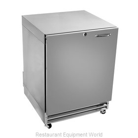 Glastender UCR24S-R Reach-in Undercounter Refrigerator 1 section
