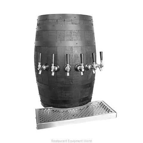 Glastender WB-4-BR-LD Draft Beer / Wine Dispensing Tower (Magnified)
