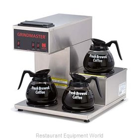 Grindmaster CPO-3RP-15A Coffee Brewer for Glass Decanters