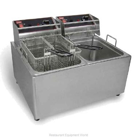 Grindmaster EL2X15 Fryer Counter Unit Electric Split Pot