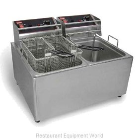 Grindmaster EL2X15 Fryer, Electric, Countertop, Split Pot