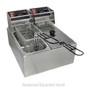 Grindmaster EL2X6 Fryer, Electric, Countertop, Split Pot