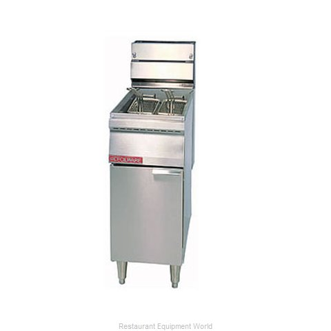 Grindmaster FMS40 Fryer Floor Model Gas Full Pot
