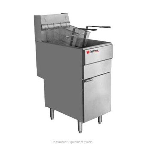 Grindmaster FMS403NAT Fryer, Gas, Floor Model, Full Pot
