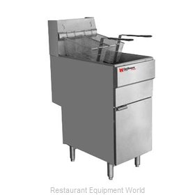 Grindmaster FMS504NAT Fryer, Gas, Floor Model, Full Pot