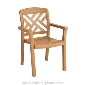 Grosfillex 45451408 Chair, Armchair, Stacking, Outdoor