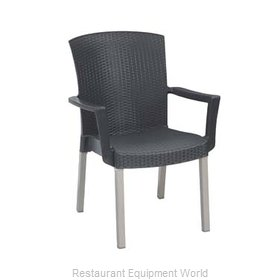 Grosfillex 45903002 Chair, Armchair, Stacking, Outdoor