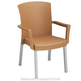 Grosfillex 45903008 Chair, Armchair, Stacking, Outdoor