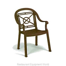 Grosfillex 46214037 Chair, Armchair, Stacking, Outdoor