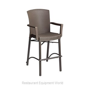 Grosfillex 48260004 Bar Stool, Outdoor