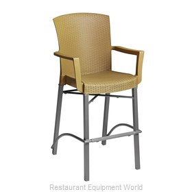 Grosfillex 48260008 Bar Stool, Outdoor