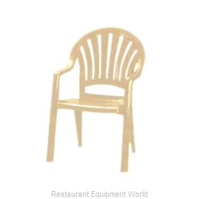 Grosfillex 49092066 Chair, Armchair, Stacking, Outdoor