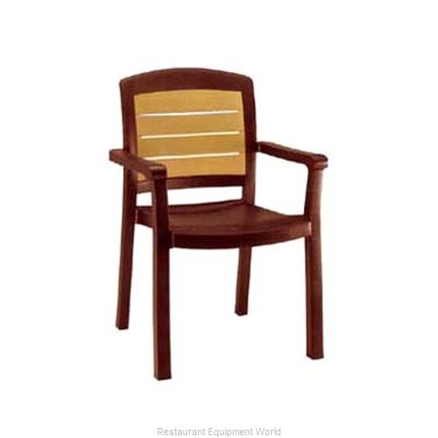 Grosfillex 49453067 Chair, Armchair, Stacking, Outdoor