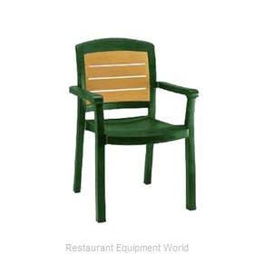 Grosfillex 49453078 Chair, Armchair, Stacking, Outdoor