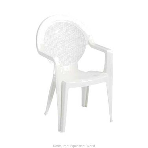 Grosfillex 99421004 Chair, Armchair, Stacking, Outdoor
