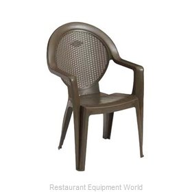 Grosfillex 99421037 Chair, Armchair, Stacking, Outdoor