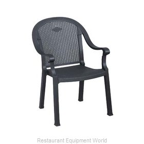 Grosfillex 99720002 Chair, Armchair, Stacking, Outdoor