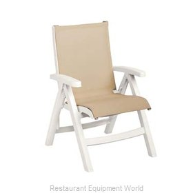 Grosfillex CT352004 Chair, Folding, Outdoor