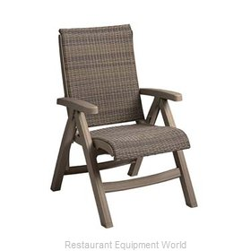 Grosfillex CT406181 Chair, Folding, Outdoor