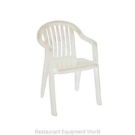 Grosfillex US023004 Chair, Armchair, Stacking, Outdoor
