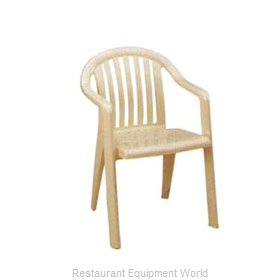 Grosfillex US023066 Chair, Armchair, Stacking, Outdoor