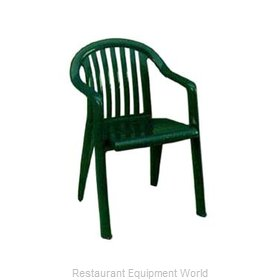 Grosfillex US023078 Chair, Armchair, Stacking, Outdoor
