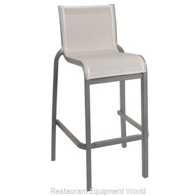 Grosfillex US030289 Bar Stool, Stacking, Outdoor