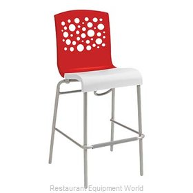Grosfillex US031414 Bar Stool, Stacking, Indoor