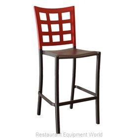 Grosfillex US046202 Bar Stool, Stacking, Indoor