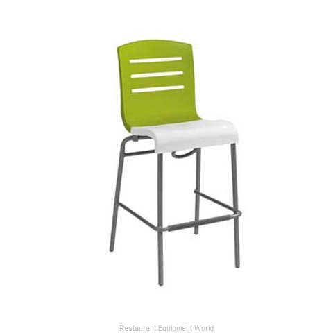 Grosfillex US051152 Bar Stool, Stacking, Indoor