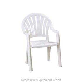 Grosfillex US092004 Chair, Armchair, Stacking, Outdoor