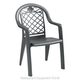 Grosfillex US103102 Chair, Armchair, Stacking, Outdoor
