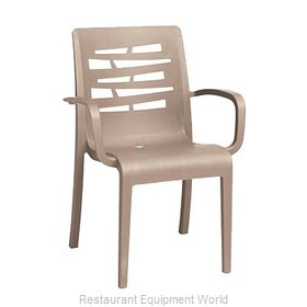 Grosfillex US118181 Chair, Armchair, Stacking, Outdoor