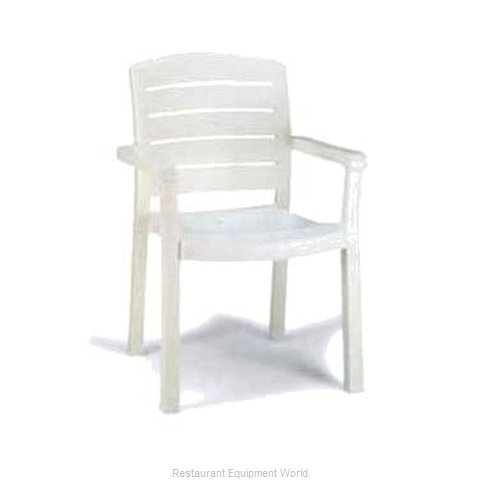 Grosfillex US119004 Chair, Armchair, Stacking, Outdoor